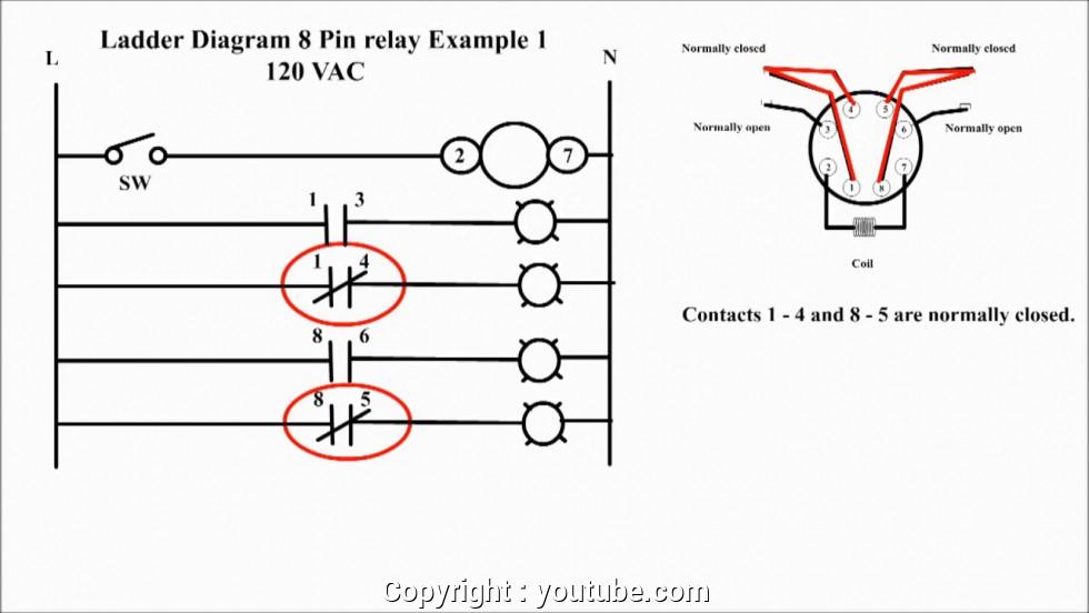 latching 8 pin relay wiring diagram
