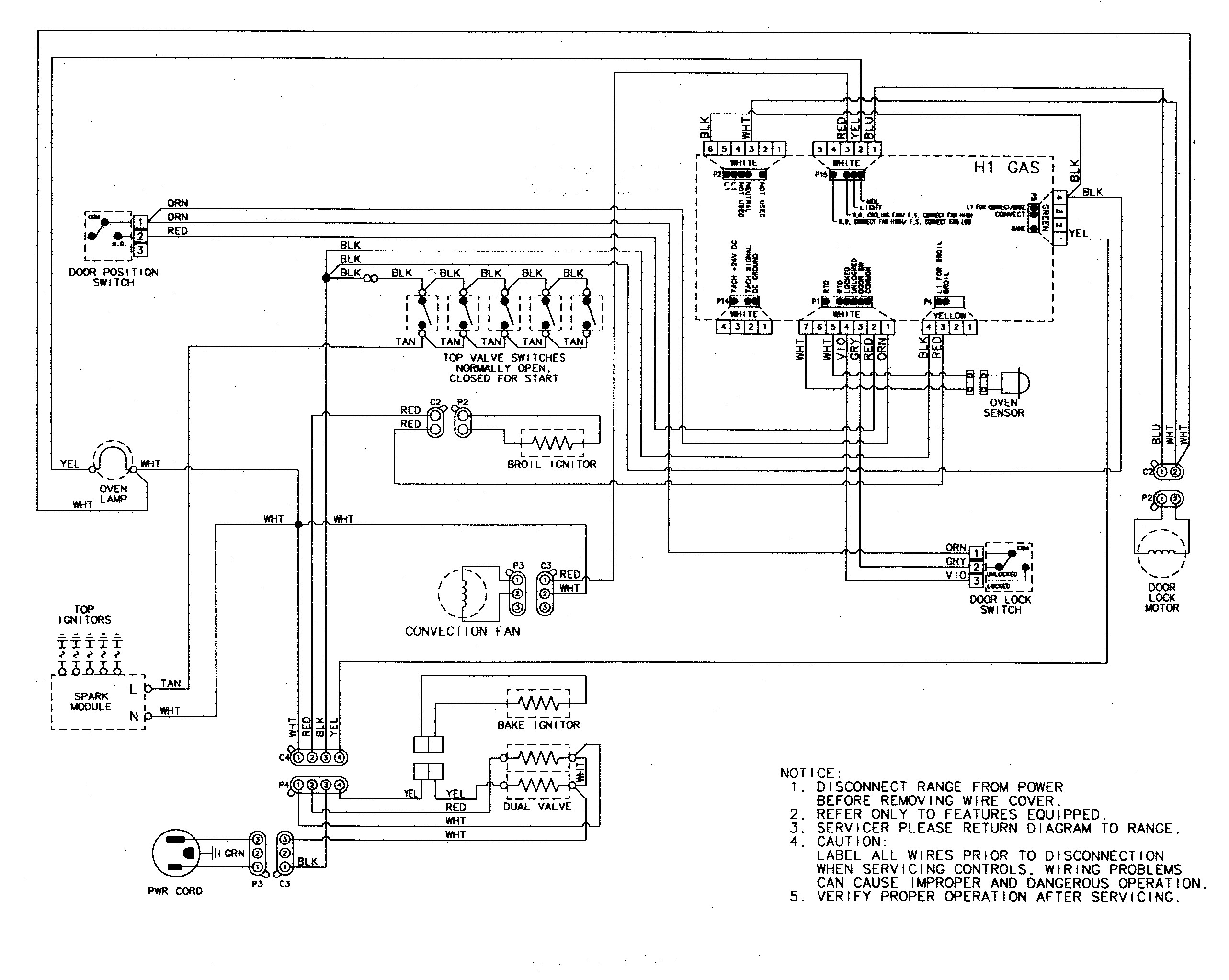 wire diagram ge wall oven