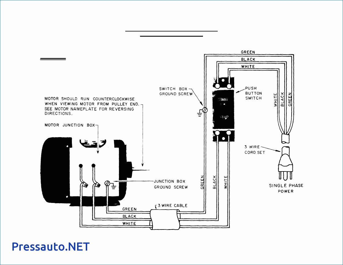 single phase electric motor wiring diagram