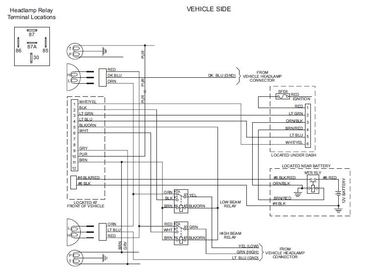 snowdogg plow lights wiring diagram