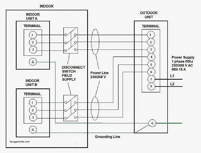 wiring diagram of window type air conditioner