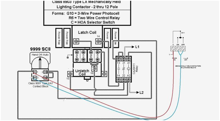 Mechanically Held Contactor Wiring Diagram - 1710