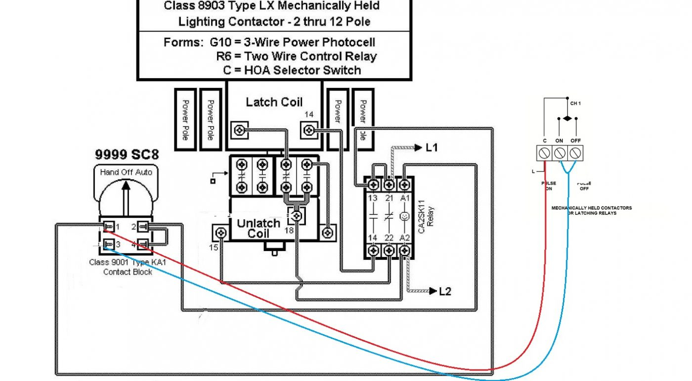 electrical contactor wiring diagram