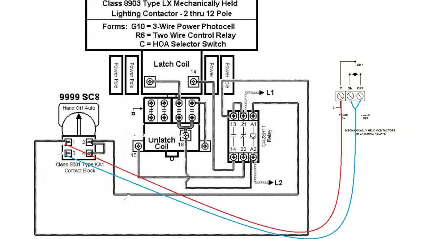 wiring diagram lighting contactor