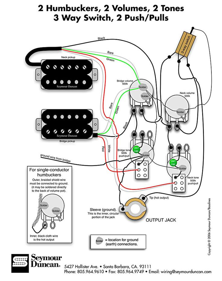 wiring diagram for strat with humbucker