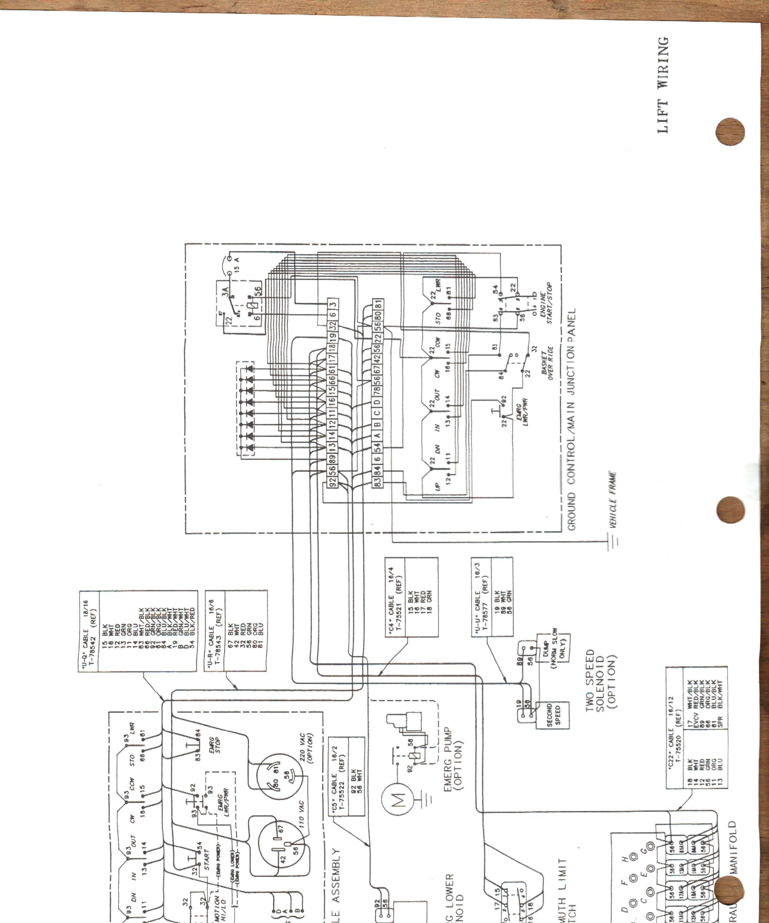 pierce bucket truck wiring diagram correll