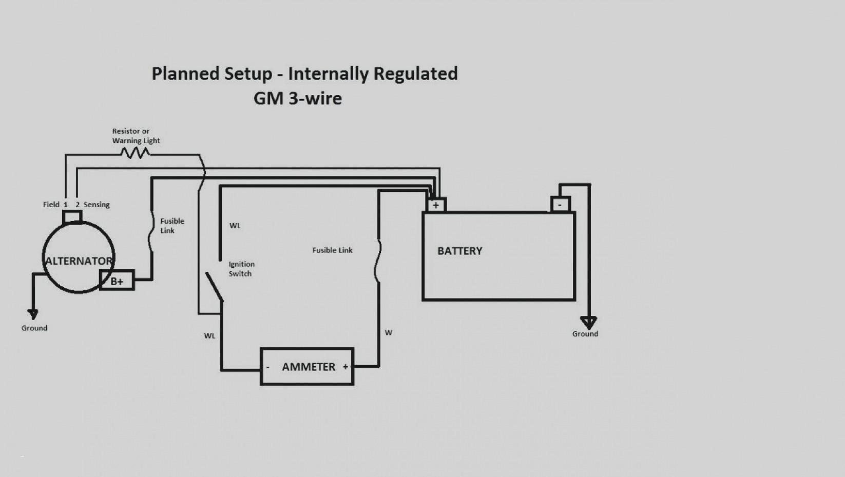 gm alternator wiring diagram 1 wire