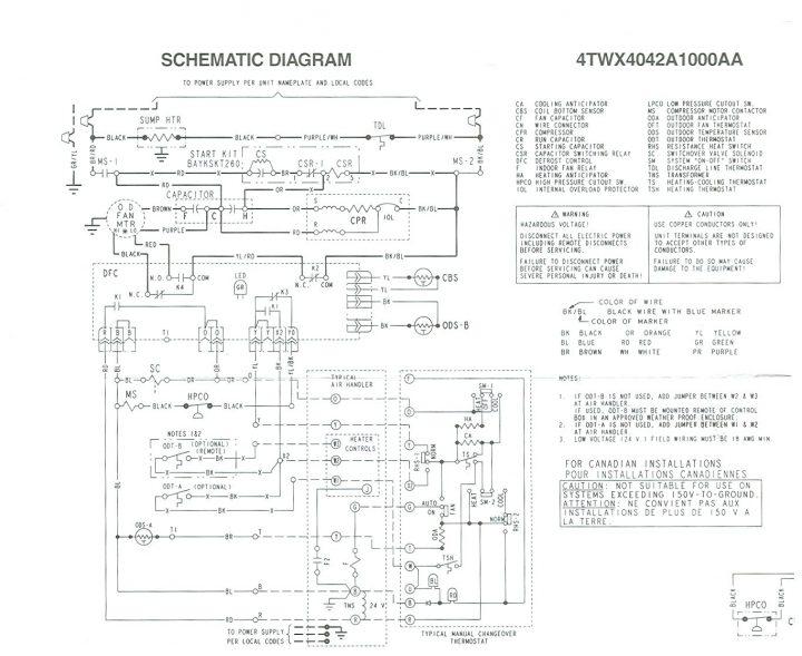 Wiring Diagram Trane Split System Wiring Diagram