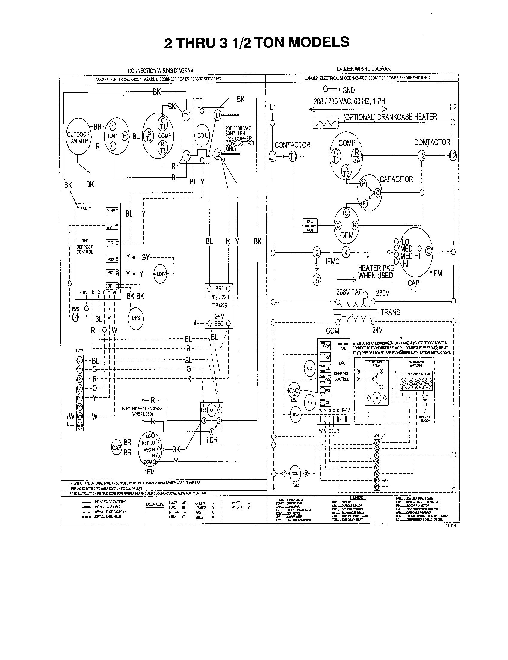 york air handler wiring diagram model ahe36c3xh21a