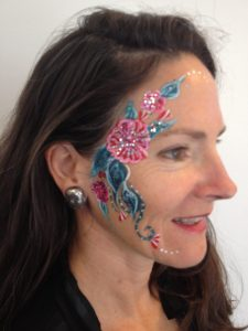 Face Painting Red Hibiscus