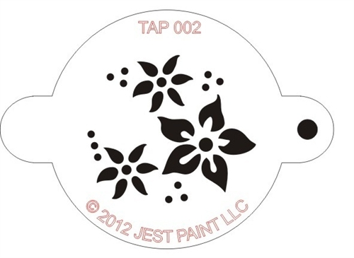 TAP 002 Face Painting Stencil \u2013 Flowers