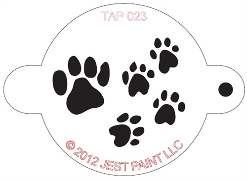Tap 023 Face Painting Stencil Paw Prints