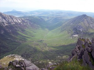 Glen Rosa from the summit of Cir Mhor