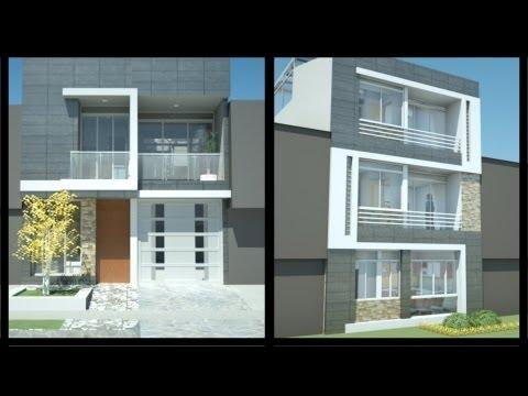 12 hermosas y modernas fachadas de casas con balc n for Fachadas de casas modernas en lima