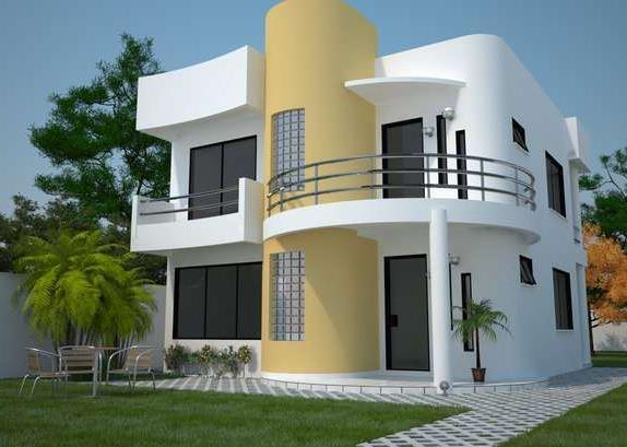 12 hermosas y modernas fachadas de casas con balc n for Casas modernas mexicanas