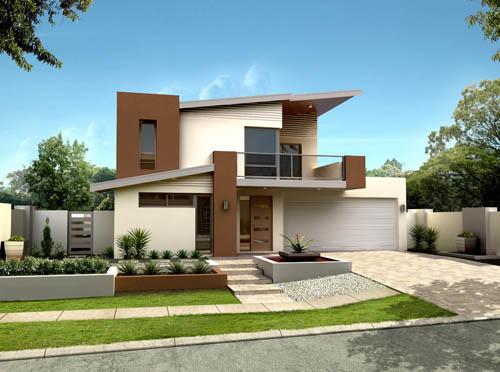 12 fachadas de casas modernas y bonitas fachadas de for Casas modernas planos y fachadas