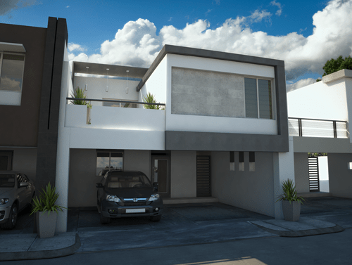 11 interesantes fachadas de casas modernas con cantera for Fachadas contemporaneas