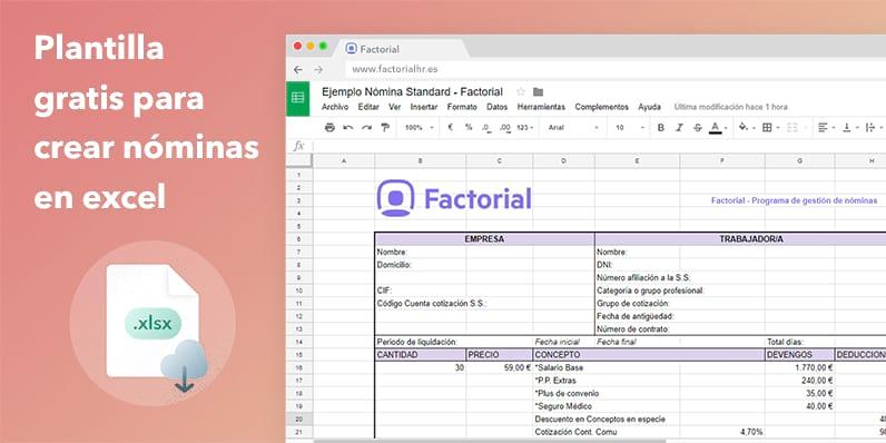 Plantilla para hacer nóminas de trabajadores - Plantilla Gratis Excel