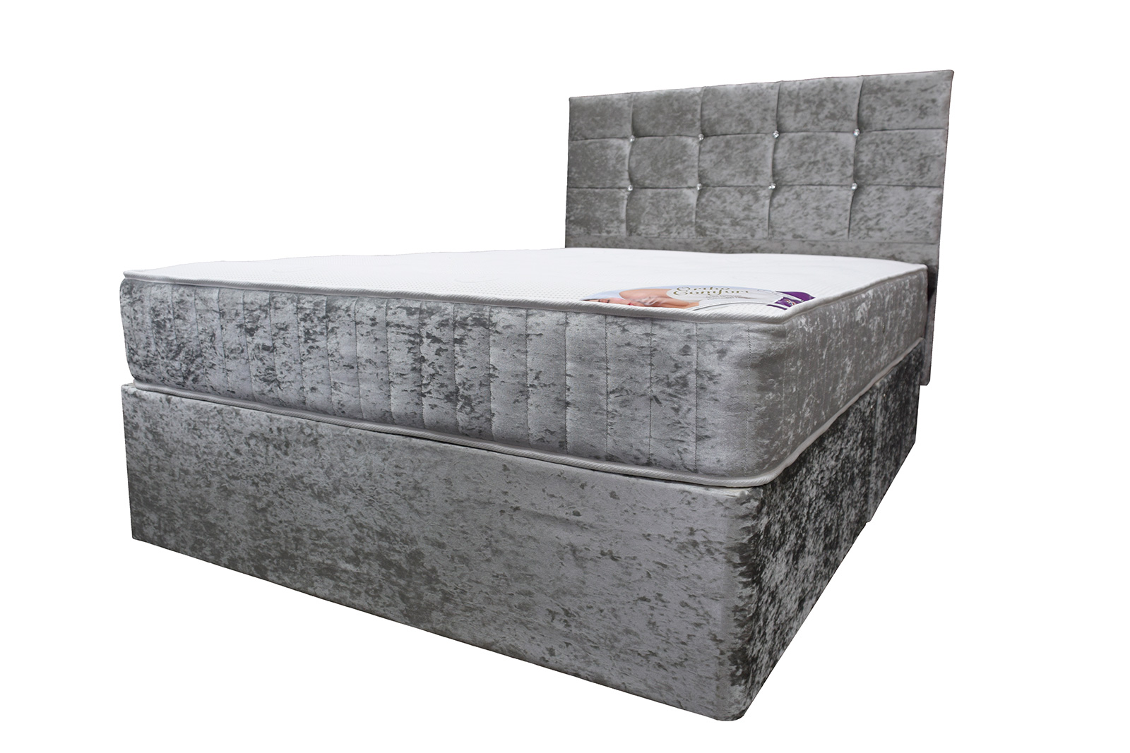 Double Divan Beds Crushed Velvet Divan Beds