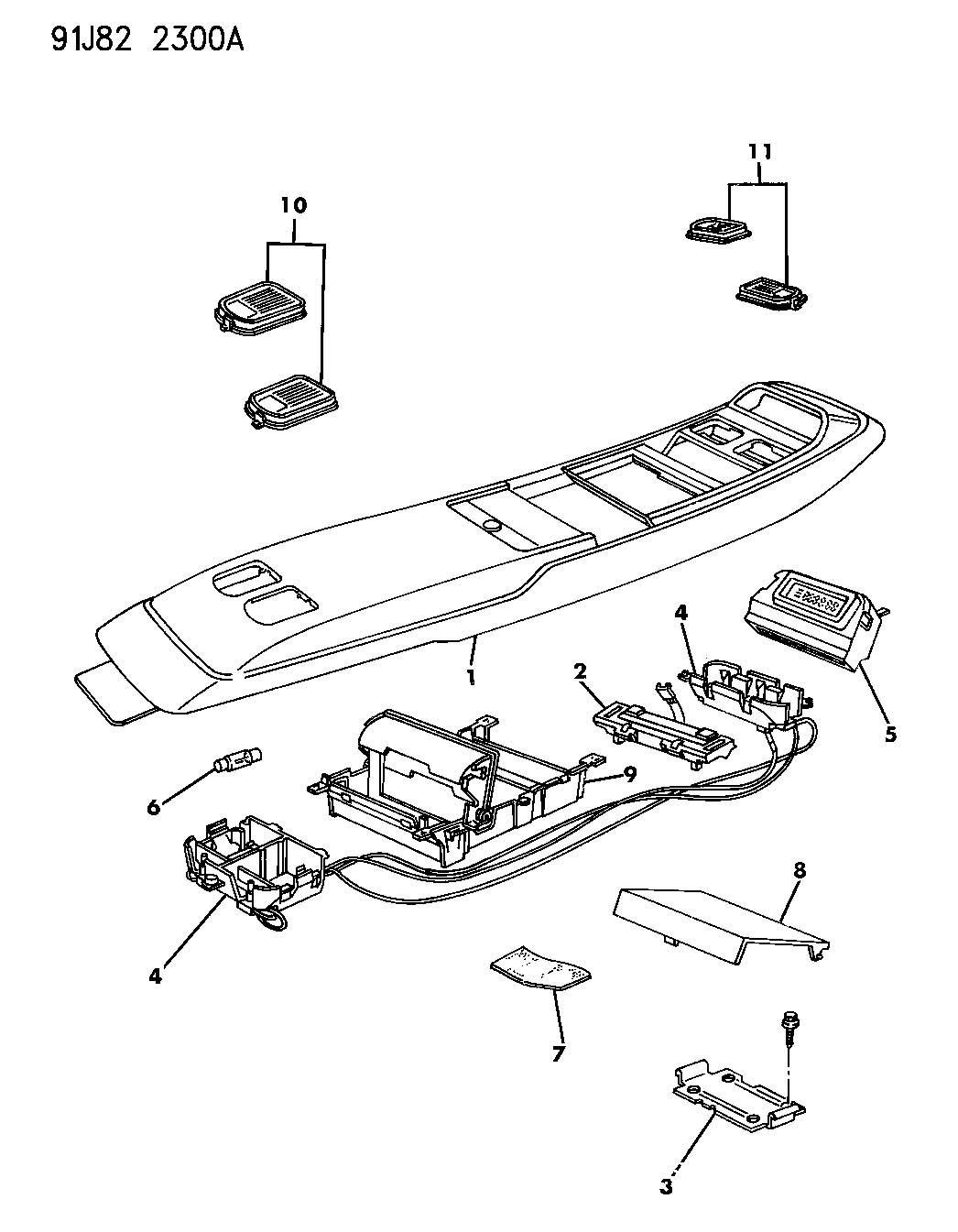 91 jeep cherokee wiring console