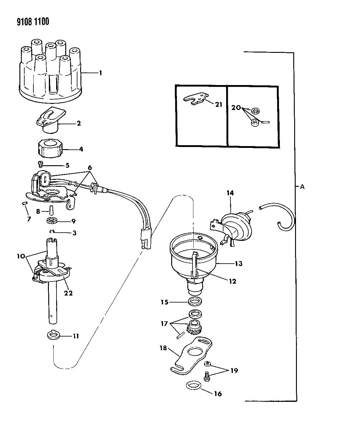 dodge distributor parts