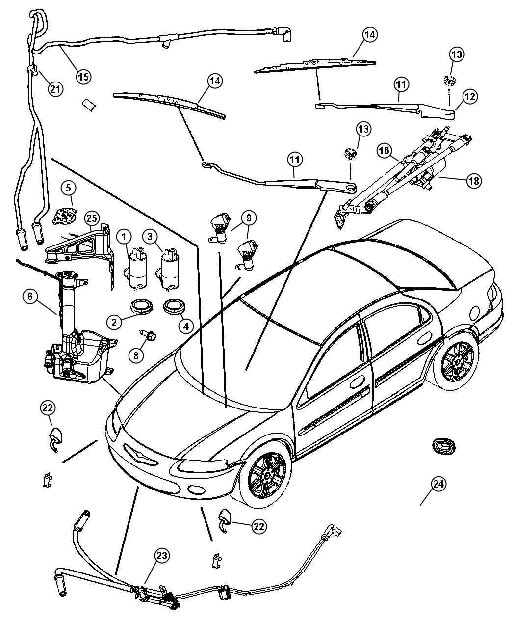 2005 honda element wiper washer fuse box diagram