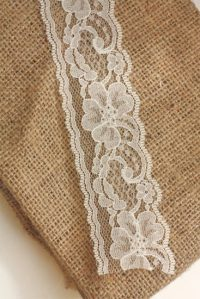 No-Sew Burlap and Lace Runner  Factory Direct Craft Blog