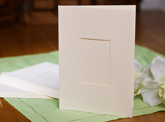 Ivory Elite Elegantly Simple Photo Insert Cards - Placecards - Place