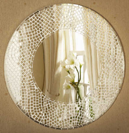 Square Glass Mosaic Tile Mirrors Centerpiece Mirrors