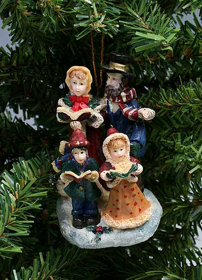 Victorian Christmas Carolers Polystone Ornament - Christmas