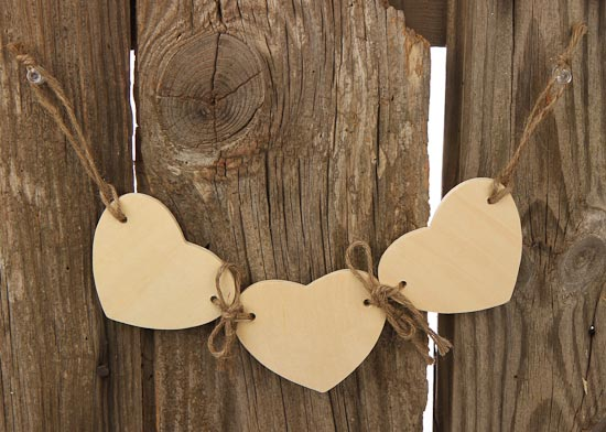 Bridal Wallpaper Hd Triple Wood Heart Garland Tied With Jute Western Theme