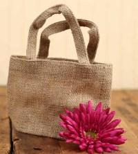 Small Natural Jute Burlap Bag - Bags - Basic Craft ...