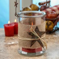 Rustic Hanging Glass Candle Holder - What's New ...