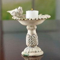 Elegant Bird Bath Candle Holder