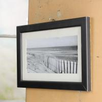 Black and White Beach Scene Framed Print - Wall Decor ...
