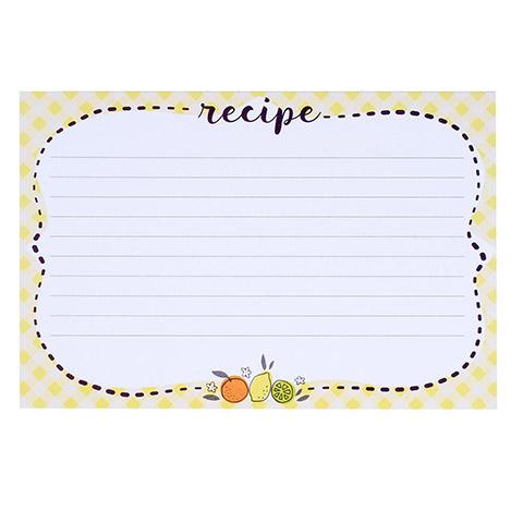 Citrus Print Blank Recipe Cards - Kitchen Utensils - Kitchen and