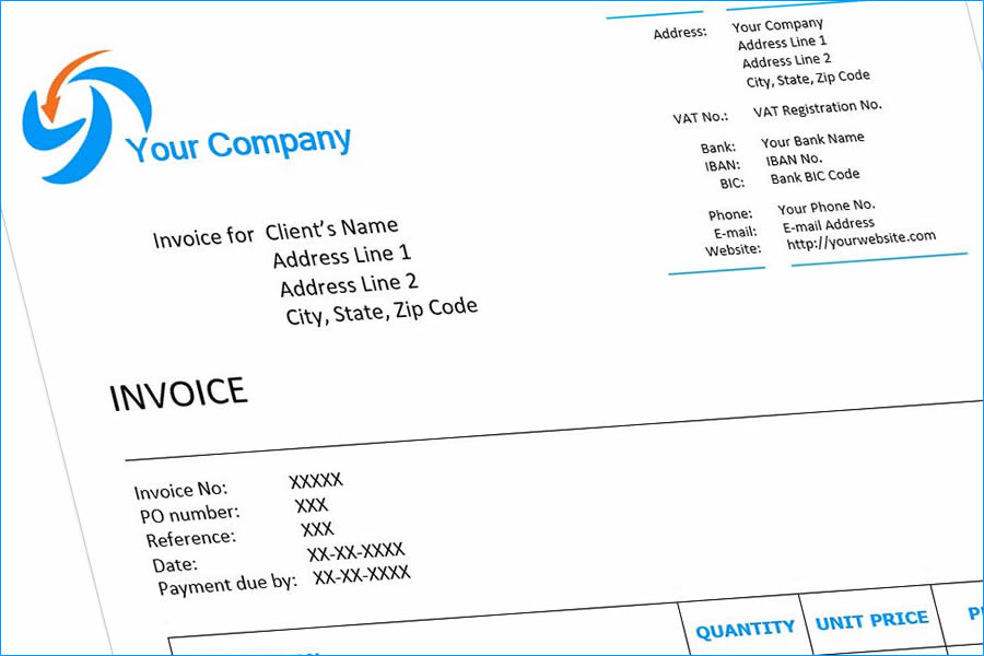 Invoice Example Billing Software Invoicing Software For YOUR - professional invoice template