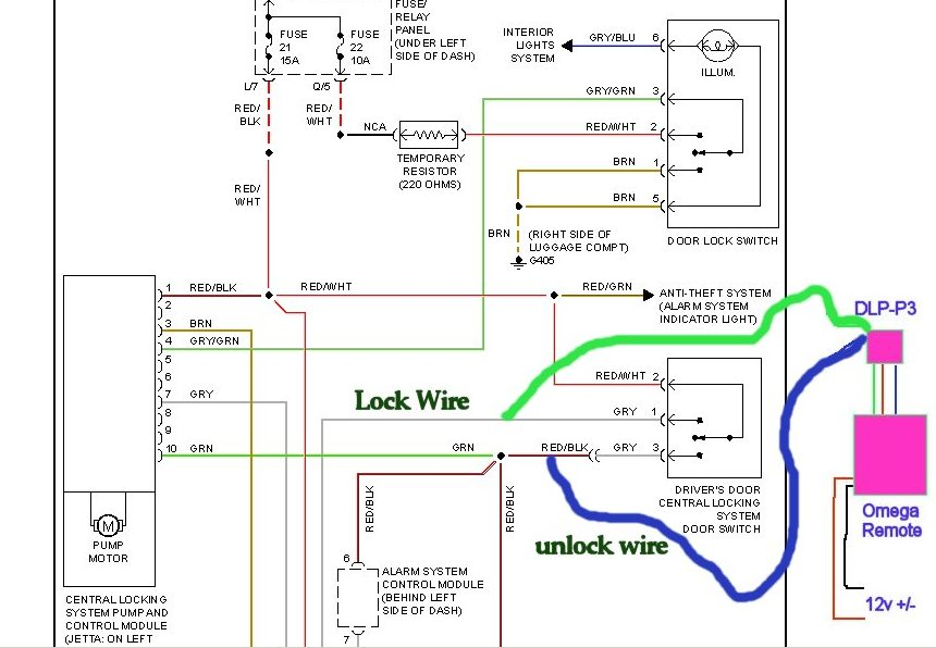 Passat Central Locking Wiring Diagram Wiring Diagram