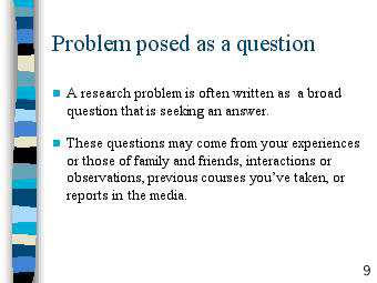 How To Write A Research Proposal University Of Research Problem