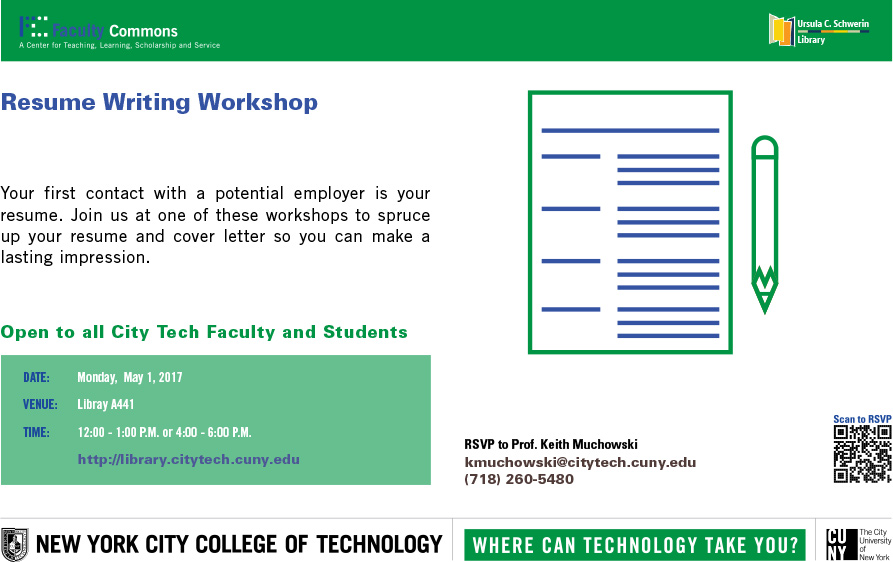 Resume Writing Workshop Faculty Commons