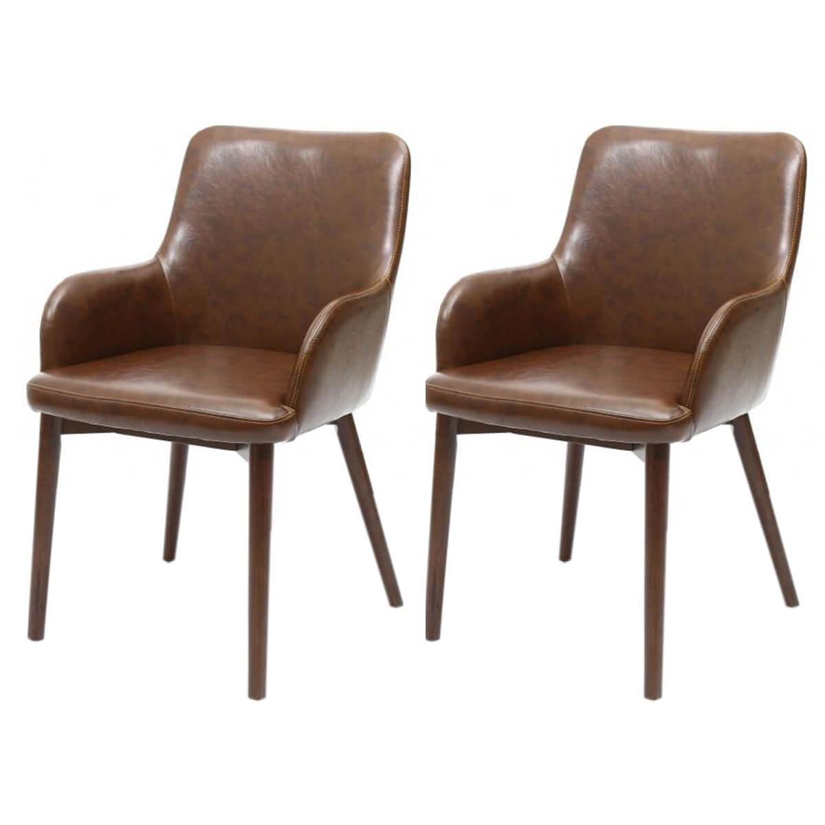 Leather Dining Chairs Sidcup Vintage Brown Leather Dining Chairs Free Delivery
