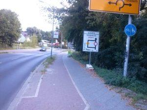 wieder nutzbarer benutzungspflichtiger Radweg