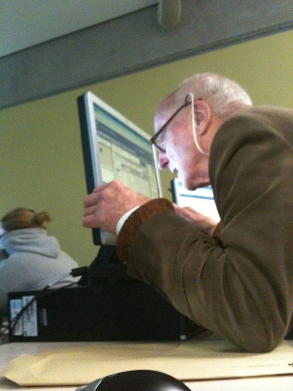 old guy at the computer