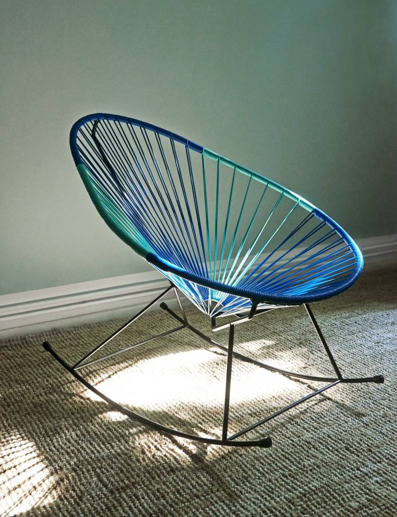 Mexican Rocking Chair Acapulco Rocking Chair Petrol Blue Light Turquoise