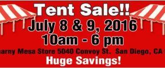 Tent sale 7 6 2016 B