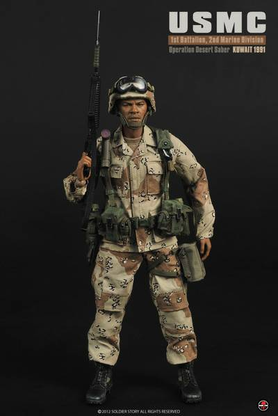 Zoom 6 Soldier Soldier Story 1 6 Scale 12 U S Marines Operation Desert