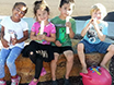 children eating Fairyella ice pops