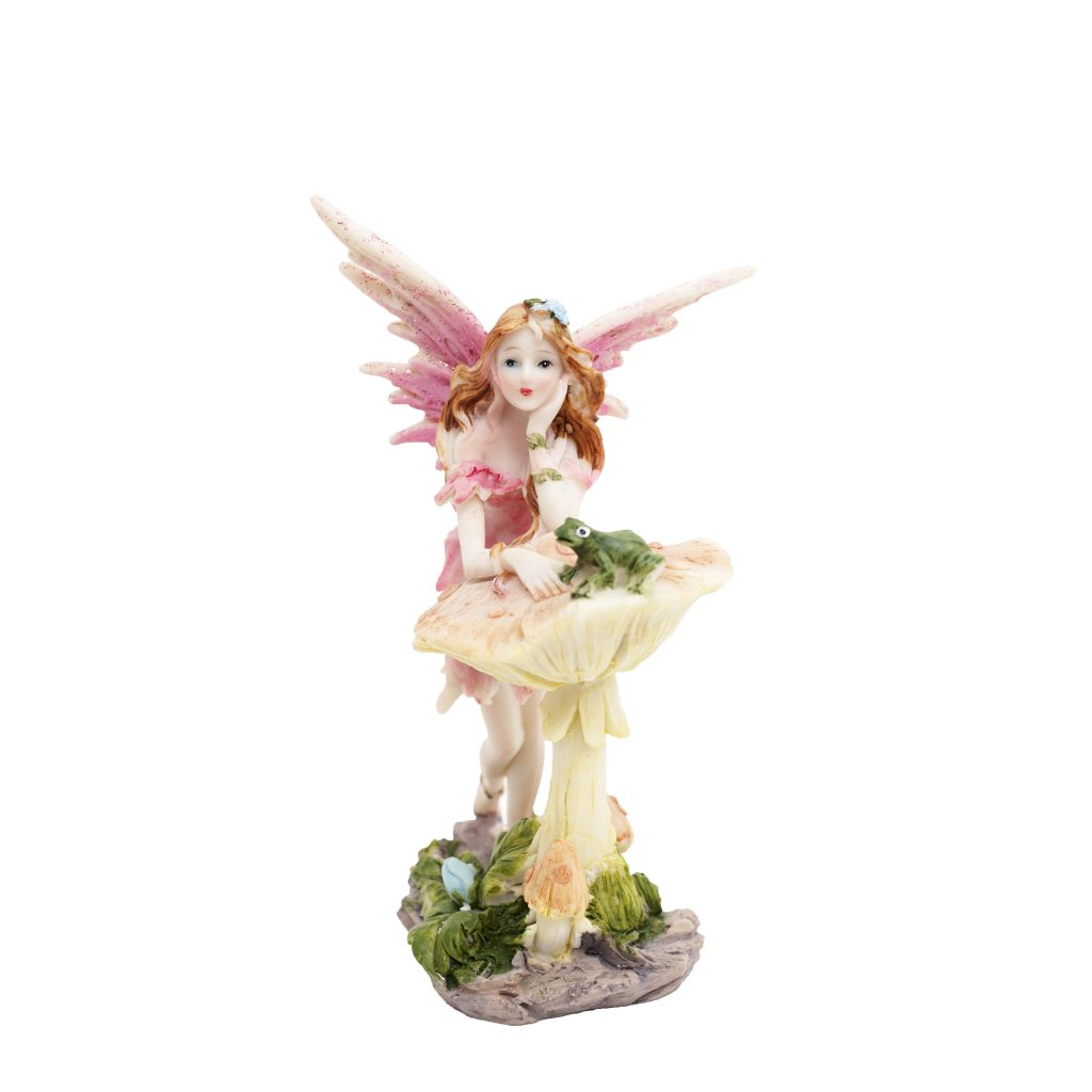 Large Fairies Large Fairy On A Toadstool Fairy Gardens Uk