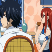 Erza and Lucy are going to find out which one of them gargles nicer!