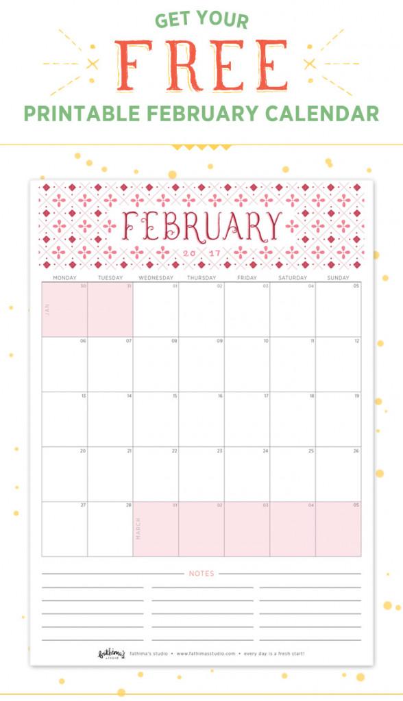 February Planning - Free Printable Calendar, Budgeting Worksheet and